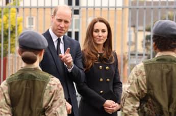 Prinz William und Herzogin Kate bei ihrem Besuch von Kadetten der Royal Air Force in London am 21. April 2021