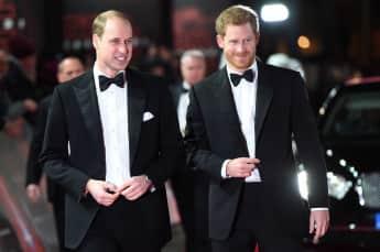 """Prinz William und Prinz Harry zusammen auf der """"Star Wars: The Last Jedi"""" European Premiere"""