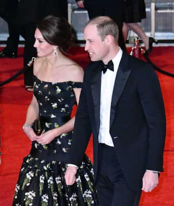 Herzogin Kate und Prinz William bei den BAFTAs 2017