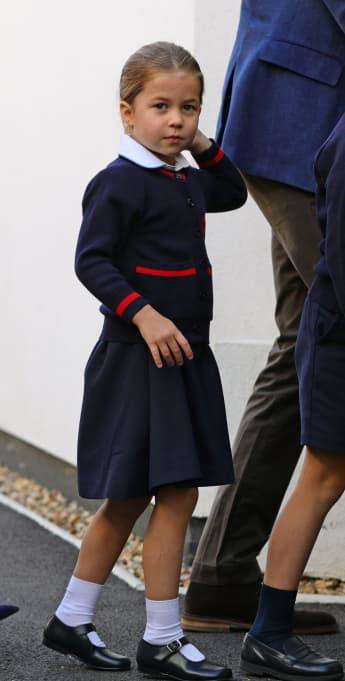 Prinzessin Charlotte an ihrem ersten Schultag am 5. September 2019