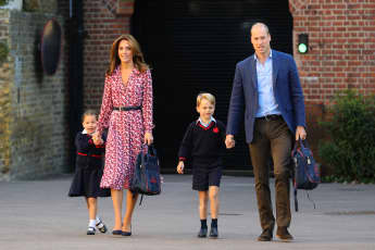 Prinzessin Charlotte, Herzogin Kate, Prinz George, Prinz William