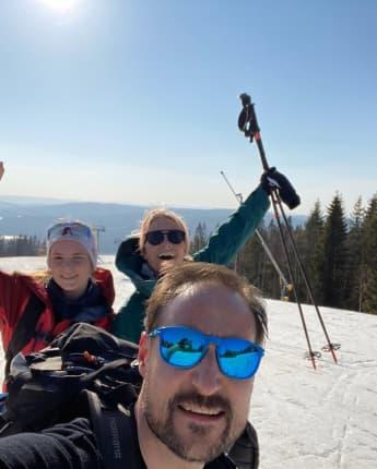 Prinzessin Mette-Marit Prinz Haakon Prinzessin Ingrid Alexandra ski