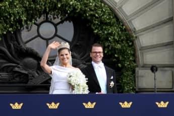 Prinzessin Victoria und Prinz Daniel bei ihrer Hochzeit 2011