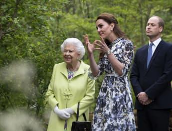 Herzogin Kate zeigt Königin Elisabeth II. und Prinz William ihren eigens kreierten Garten