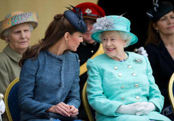 Queen Elizabeth II and Duchess Kate