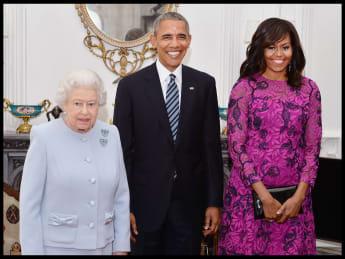 Barack und Michelle Obama statteten Königin Elisabeth II. im April 2016 einen Besuch ab