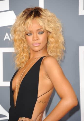 Rihanna im Jahr 2012 als Blondine