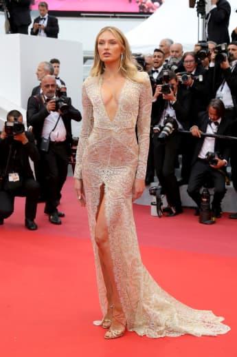 Romee Strijd begeistert bei den Filmfestspielen in Cannes 2019 mit ihrem Look