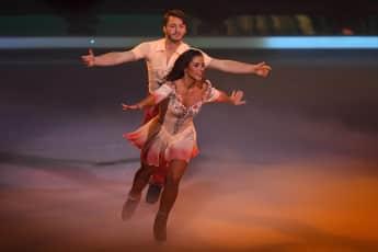 "Sarah Lombardi und Joti Polizoakis feierten ihr Comeback bei ""Dancing on Ice"""