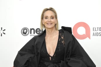 Sharon Stone Academy Awards Viewing Party Elton John AIDS Foundation