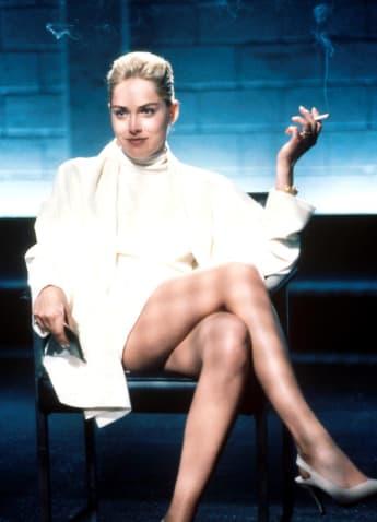 """Sharon Stone in ihrer legendären Szene im Film """"Basic Instinct"""" 1992"""