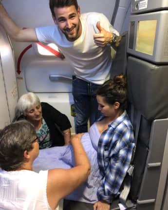 Sila Sahin hatte Wehen im Flugzeug