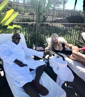 Daniel Charlier und Sophia Vegas entspannen in Las Vegas