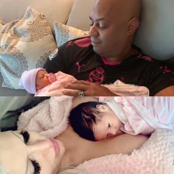 Sophia Vegas postet dieses süße Bild von Baby Amanda