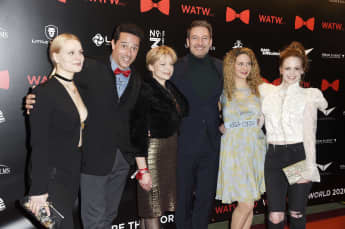 """Sturm der Liebe""-Stars Jenny Löffler, Markus Pfeiffer, Julia Grimpe, Dieter Bach, Lea Wegmann und Jennifer Siemann"
