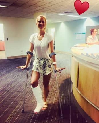 Dschungelcamp Moderatorin Susanna Ohlen Unfall Bein