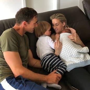Sven Hannawald mit Familie