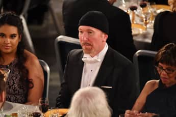 U2-Gitarrist The Edge, David Howell Evans, beim Nobelpreisbankett im Dezember 2018