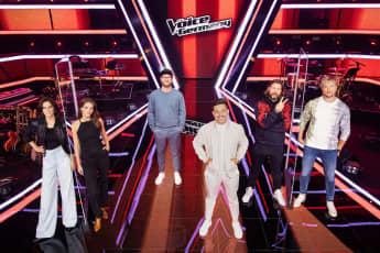 """""""The Voice""""-Jury 2020: Stefanie Kloß, Yvonne Catterfeld, Mark Forster, Nico Santos, Rea Garvey und Samu Haber"""