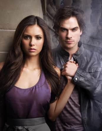 Vampire Diaries Elena Damon Ian Somerhalder Nina Dobrev