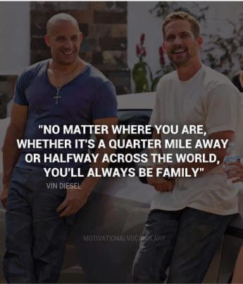 Vin Diesel Paul Walker Todestag vier Jahre emotionaler Post Instagram Fast and Furious