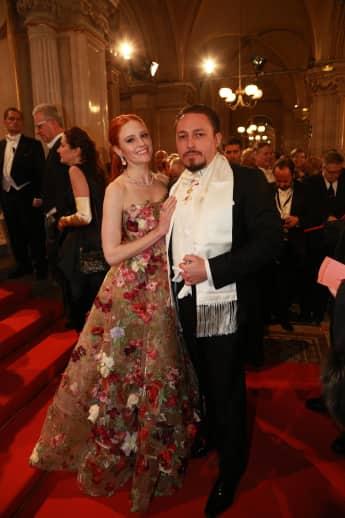 Barbara Meier und ihr Freund Klemens Hallmann beim Wiener Opernball 2018, Let's Dance