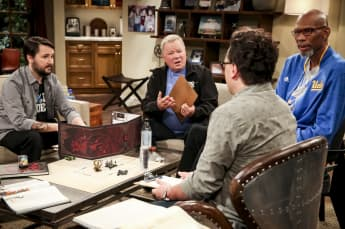 Wil Wheaton, William Shatner and Kareem Abdul-Jabbar in The Big Bang Theory
