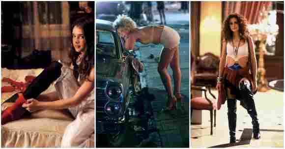 Brooke Shields, Maggie Gyllenhaal und Julia Roberts in ihren Rollen als Prostituierte