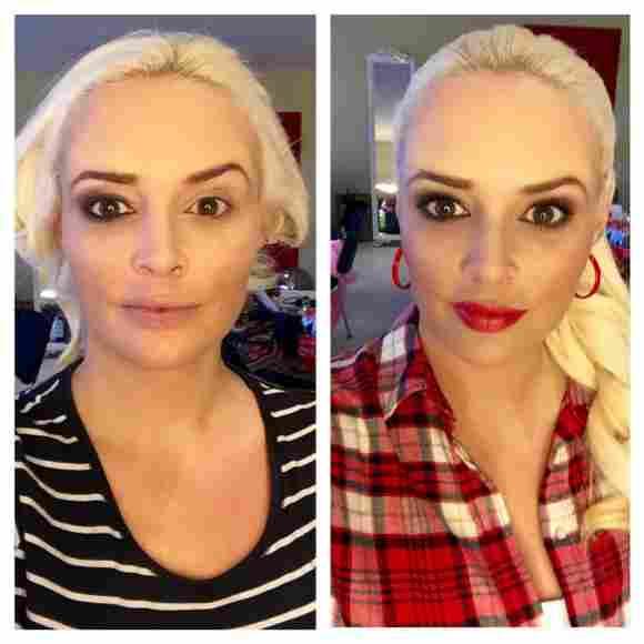 Daniela Katzenberger mit und ohne Make-up