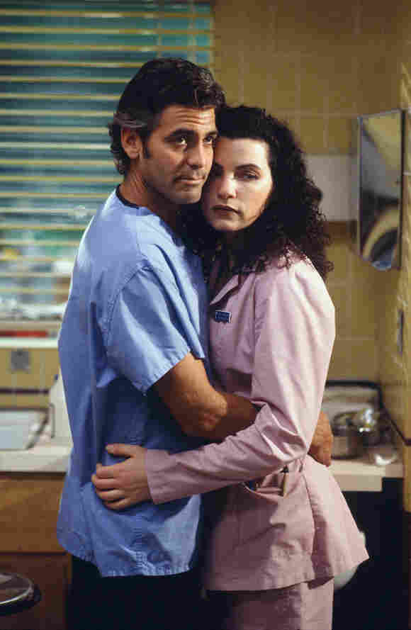 "George Clooney und Julianna Margulies in ""Emergency Room"""