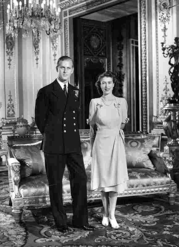 Königin Elisabeth II. Prinz Philip nach ihrer Verlobung im Jahr 1947