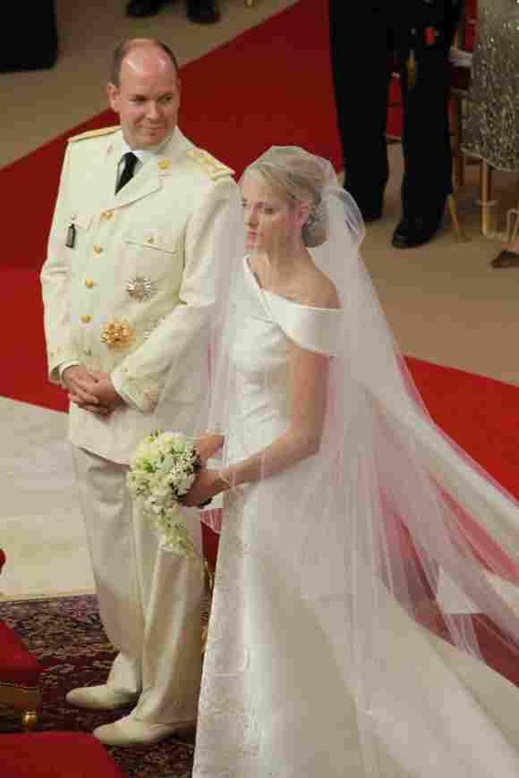 Fürst Albert und Fürstin Charlène bei ihrer Hochzeit