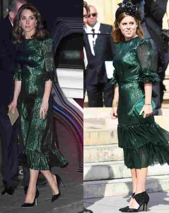 Herzogin Kate und Prinzessin Beatrice in sehr ähnlichen Kleidern
