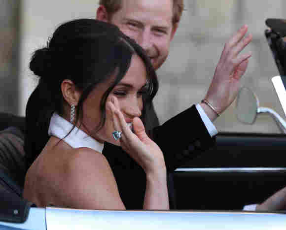 Herzogin Meghan und Prinz Harry bei ihrer Hochzeit 2018