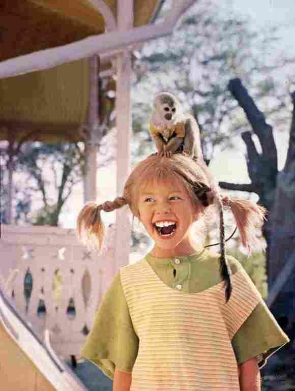 """""""Pippi Langstrumpf"""" (Inger Nilsson) und ihr Affe """"Herr Nilsson"""""""