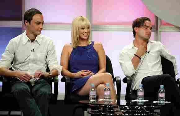 Jim Parsons, Kaley Cuoco und Johnny Galecki 2007