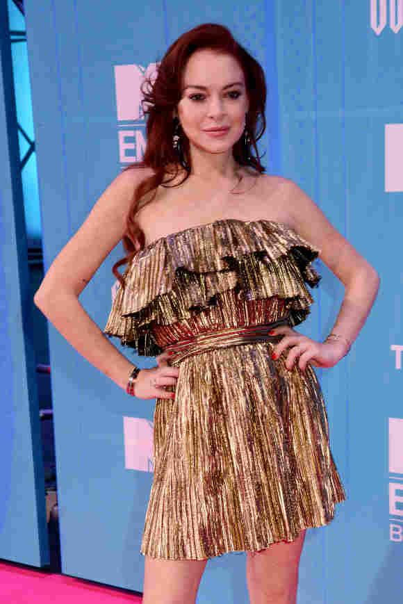 Lindsay Lohan bei den MTV EMAs im November 2018