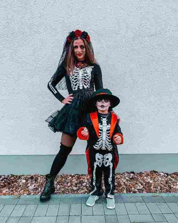 Sarah Lombardi und Alessio an Halloween 2019