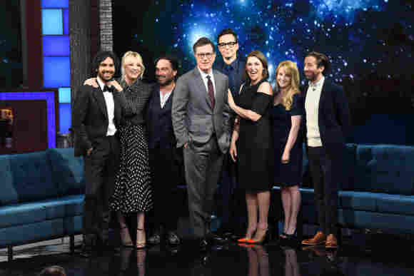 the big bang theory cast the late show stephen colbert