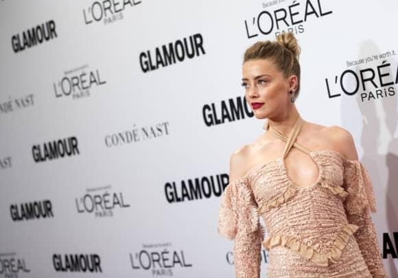 Amber Heard mit Dutt-Frisur