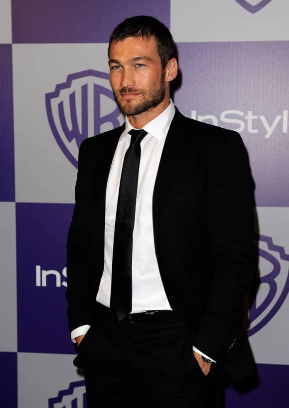 Andy Whitfield at the Golden Globe After-Party