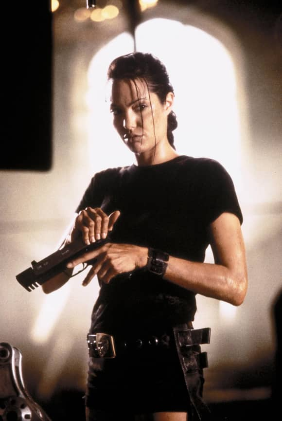 Angelina Jolie played Lara Croft in Tomb Raider