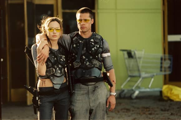 "Angelina Jolie and Brad Pitt in ""Mr. & Mrs. Smith"""