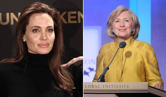 Angelina Jolie and Hillary Clinton