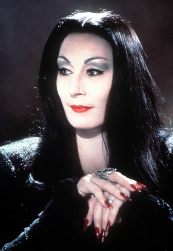 "Anjelica Huston as ""Morticia Addams"" in ""The Addams Family"""
