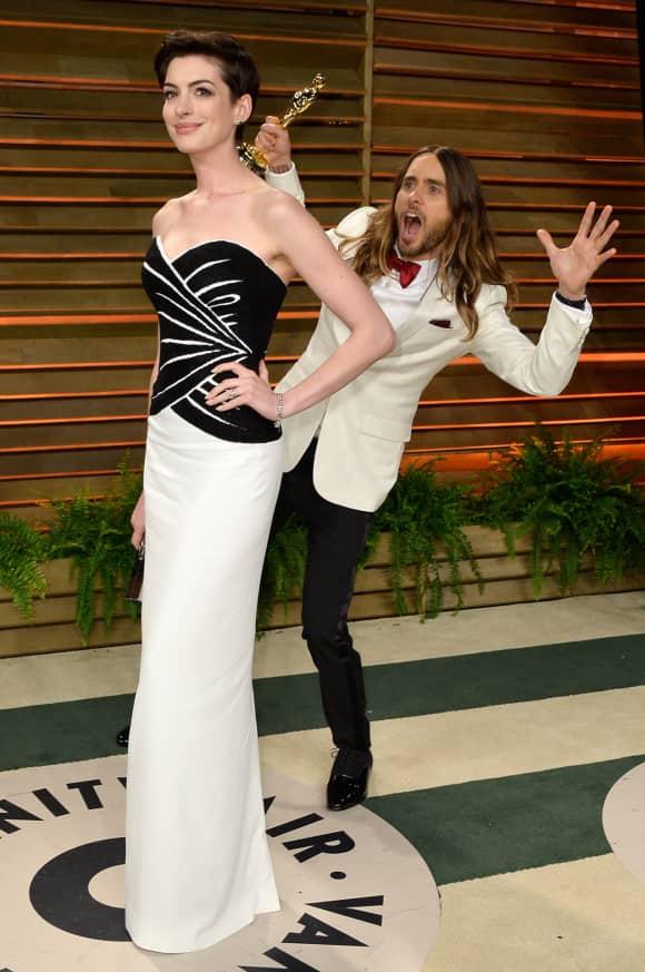 Anne Hathaway Jared Leto Oscars