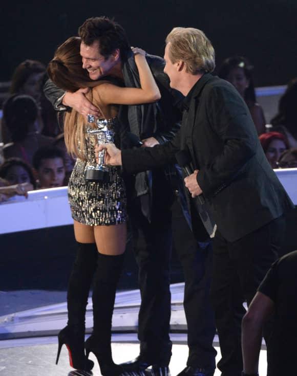 Ariana Grande und Jim Carrey