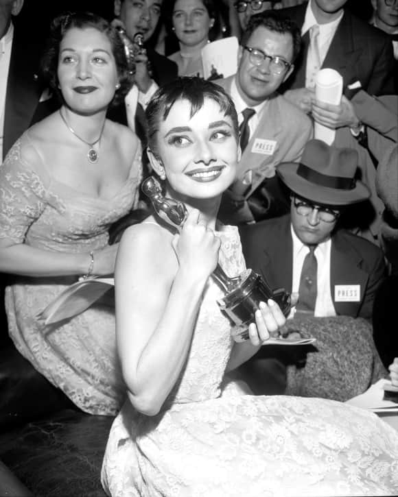 "Audrey Hepburn won the Oscar for her role in ""Roman Holiday"" in 1954 when she was just 24 years old."