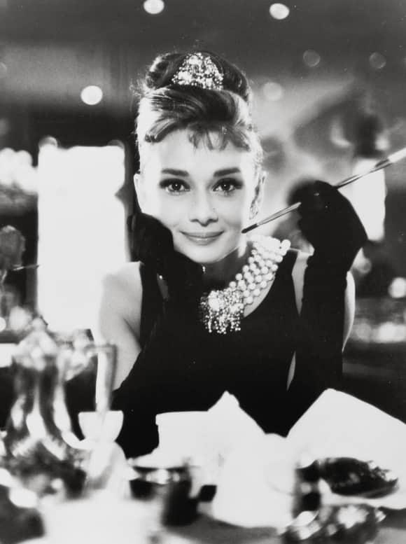 "Audrey Hepburn in ""Breakfast at Tiffanys"""