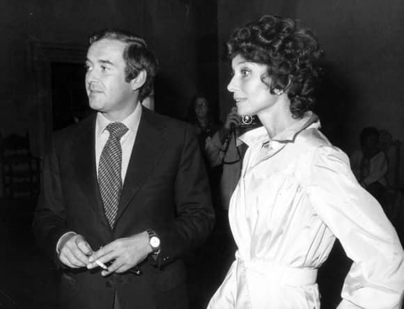 Audrey Hepburn with husband Andrea Dotti